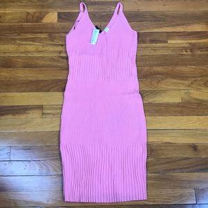 H&M Coral Pink Tank Top Dress Sz 8